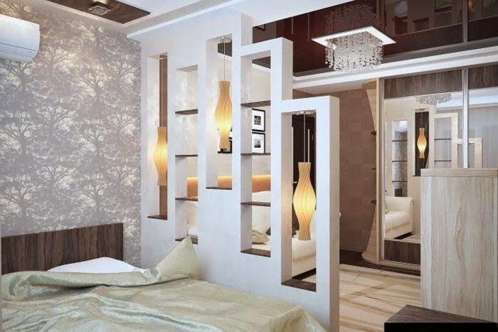 Moderne Ideen zur optischen Trennung durch Regal Raumteiler Living