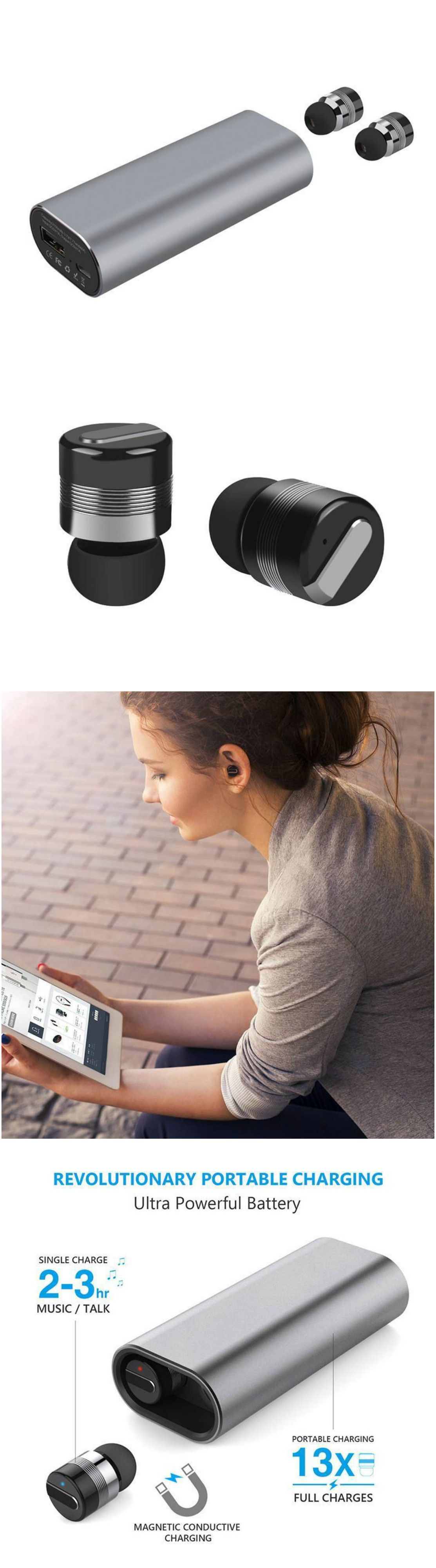 44333f13eef Bluetooth Headphone Sport Headphones Wireless Headset with Microphone. Fits  into workout and gym clothes. Great for running without tangles!