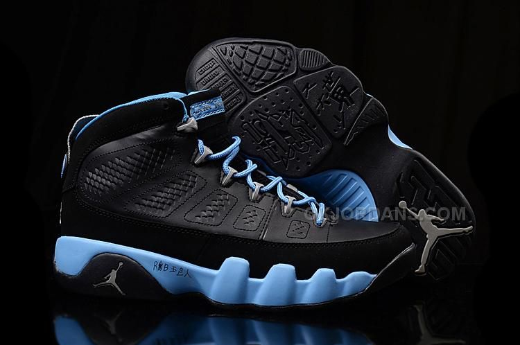 Authentic Air Jordan 9 Slim Jenkins Black Blue Sale