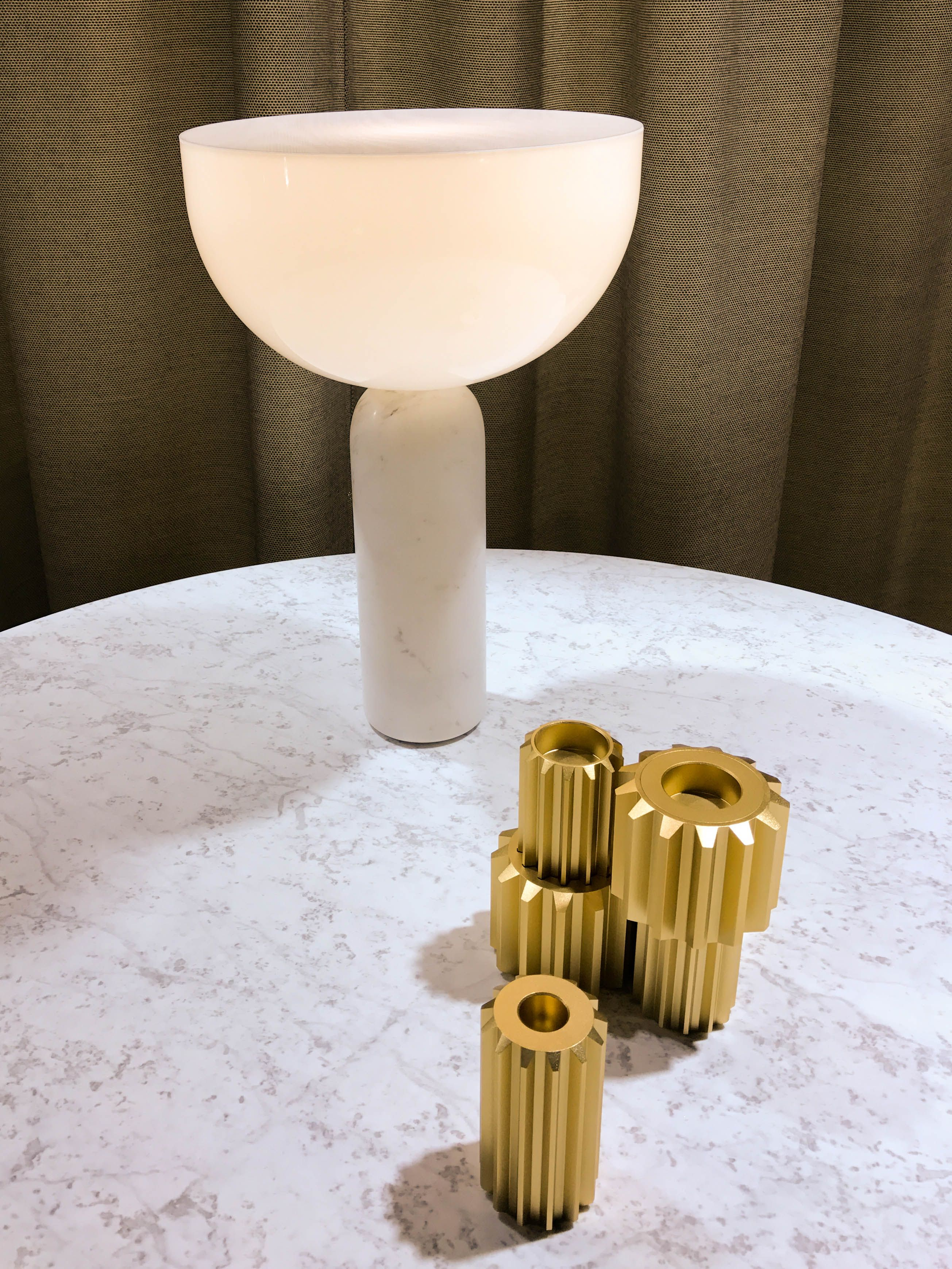 Gear Candle Holder By Rikke Frost And Kizu Table Lamp By Lars Tornoe For  New Works