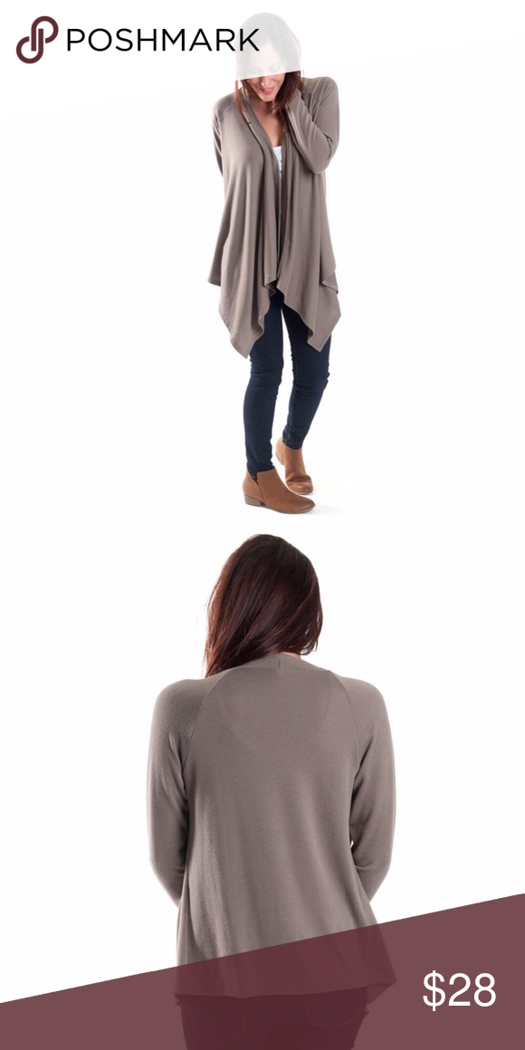 Coming Soon* Taupe Waterfall Cardigan Boutique | Taupe and Wardrobes
