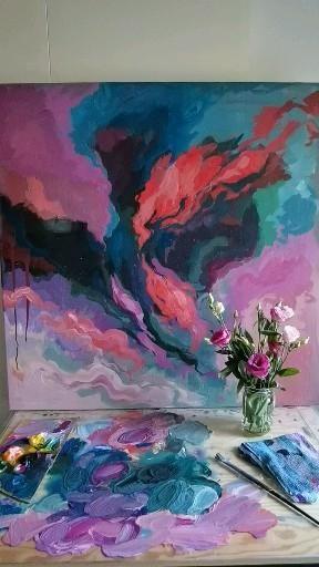 #abstractart #acrylicart #acrylicpainting #taide