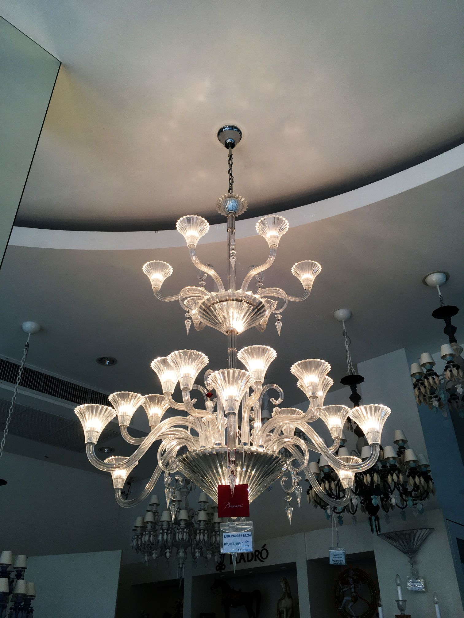 Baccarat crystal chandeliers mille nuits 24 lights baccarat baccarat crystal chandeliers mille nuits 24 lights arubaitofo Image collections