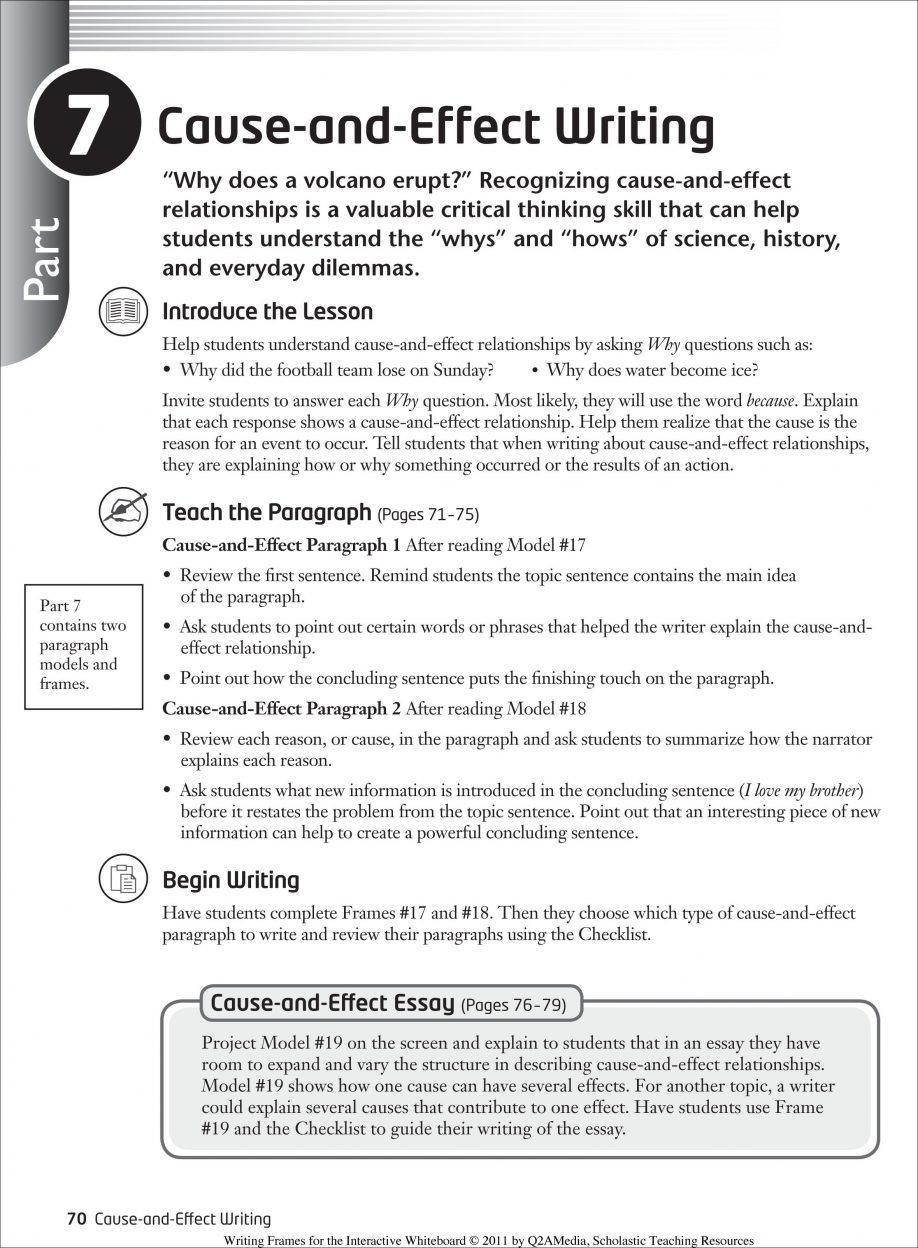 academic cause effect paragraph writing Categorical order c creating a paragraph using cause and effect writing technique choosing a topic and getting started d use appropriate transition language 1 transition words for cause 2 transition words for effect e.