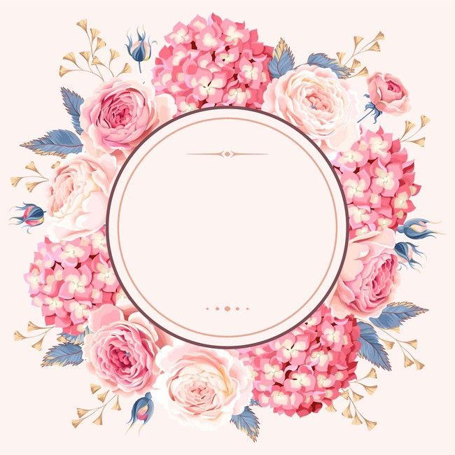 Modern Vintage Pink Floral Wedding Blank Card | Zazzle.com ... |Flower Border Designs For Wedding Cards