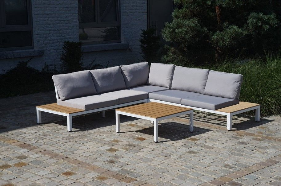 Salon De Jardin Bas 5 Places Alu Corde Noir Minaya Outdoor