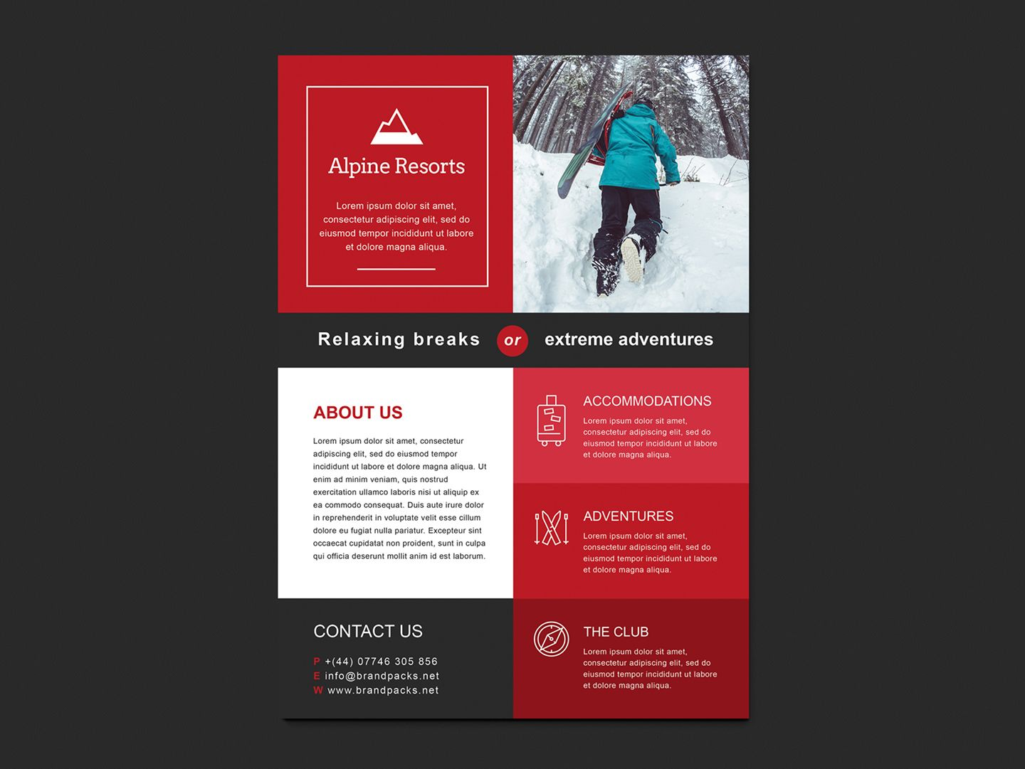 Free A4 Poster Template For Photoshop Illustrator Ktf
