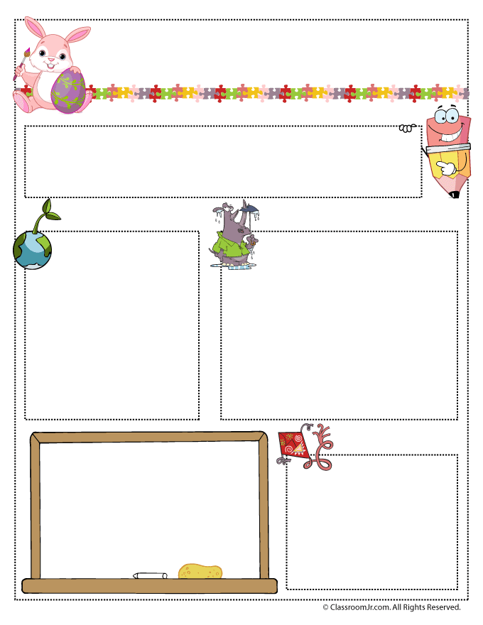 april teacher newsletter template classroom jr pre k 3