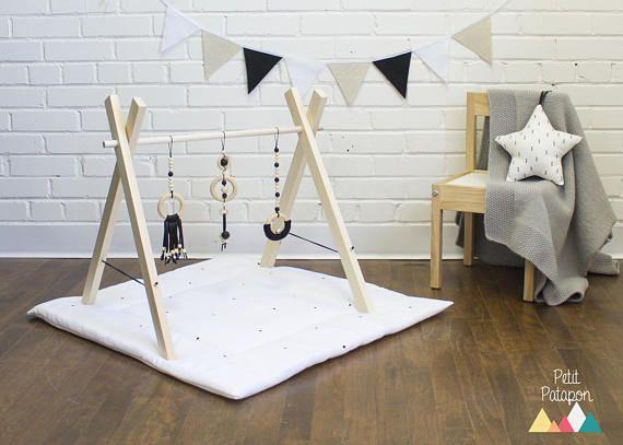 portique d 39 veil jeux en bois activit b b eveil. Black Bedroom Furniture Sets. Home Design Ideas