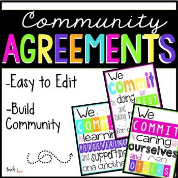 Community Agreements  Classroom Rules Class Management And Students