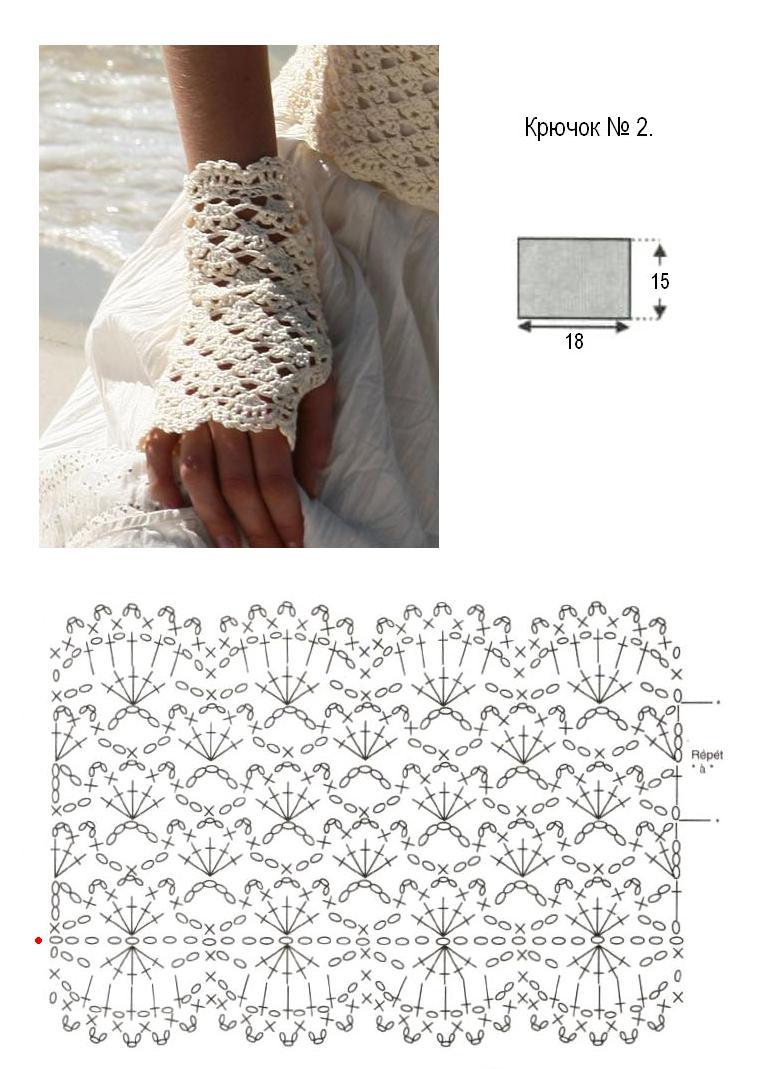 Asombroso Guantes Sin Dedos Patrón De Crochet Motivo - Manta de ...
