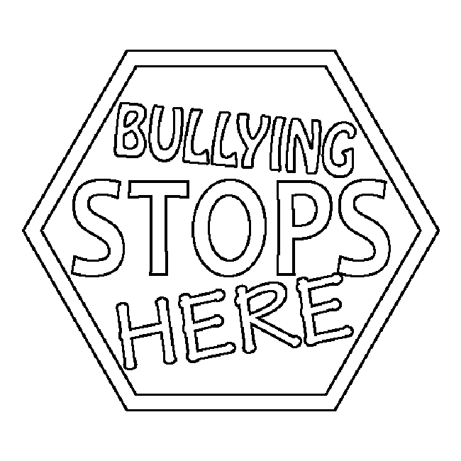 Bully Free Zone Coloring Pages