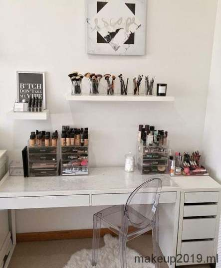 Trendy makeup storage ideas beauty room dressing tables bedrooms 24 Ideas #beauty #makeup
