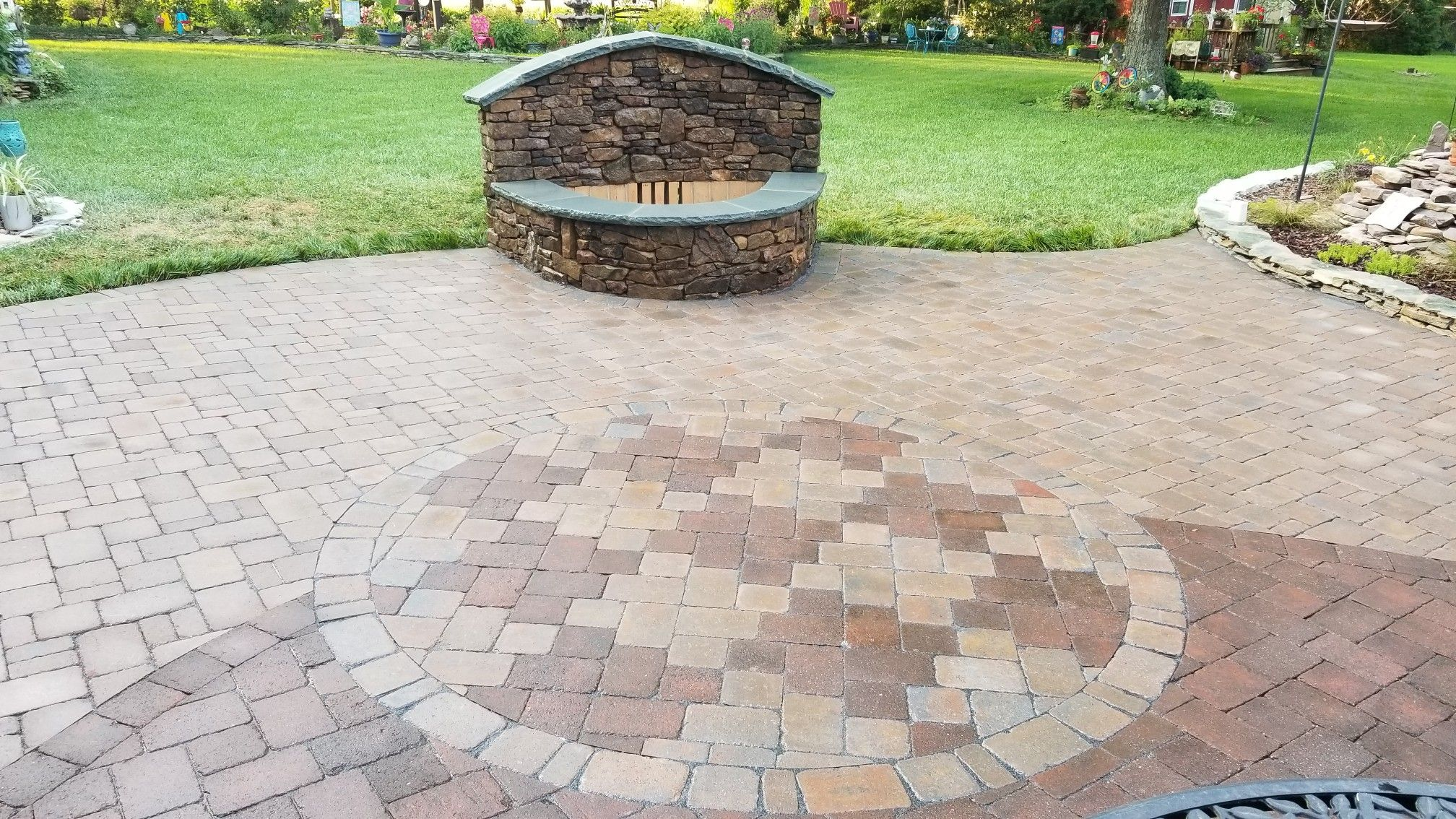Custom Inlay And Custom Firepit