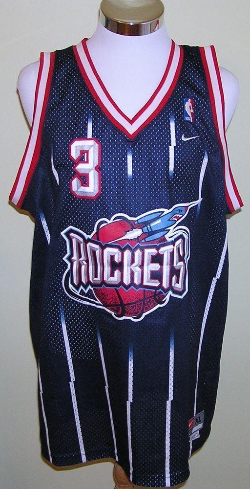 44269a67943c ... Nike Steve Francis Houston Rockets Vintage Stitched Jersey Size XL  Length +2 .