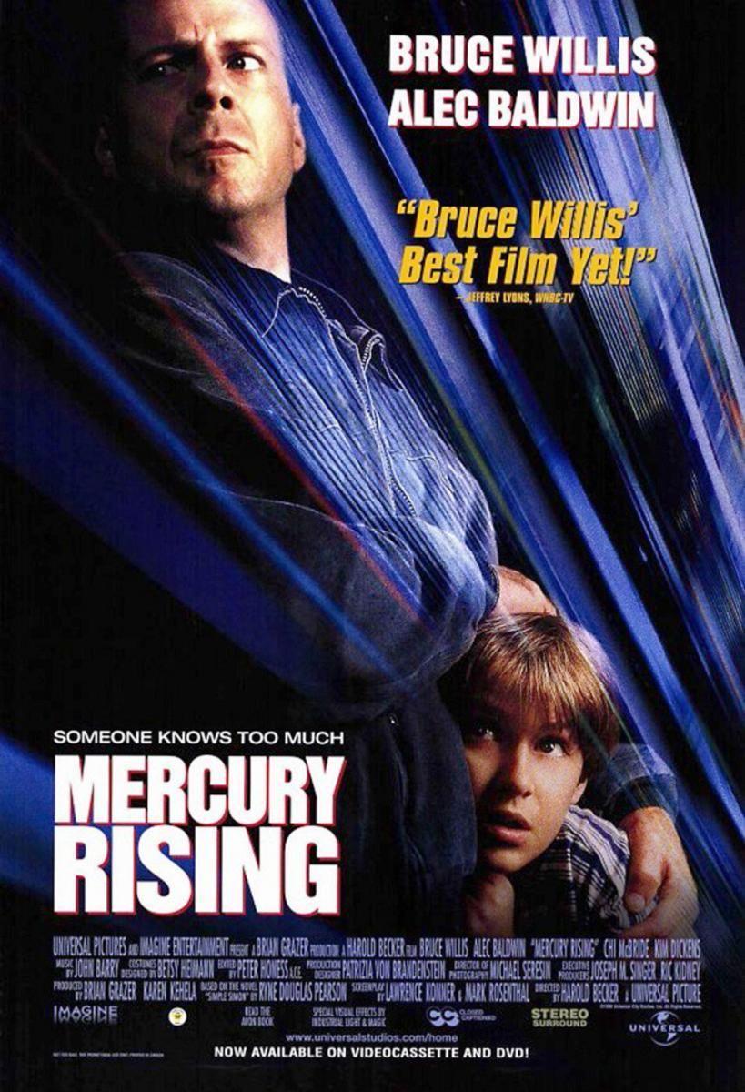 Mercury Rising 1998 Thriller Drama Dir Harold Becker Bruce Willis Thriller Movie Movies