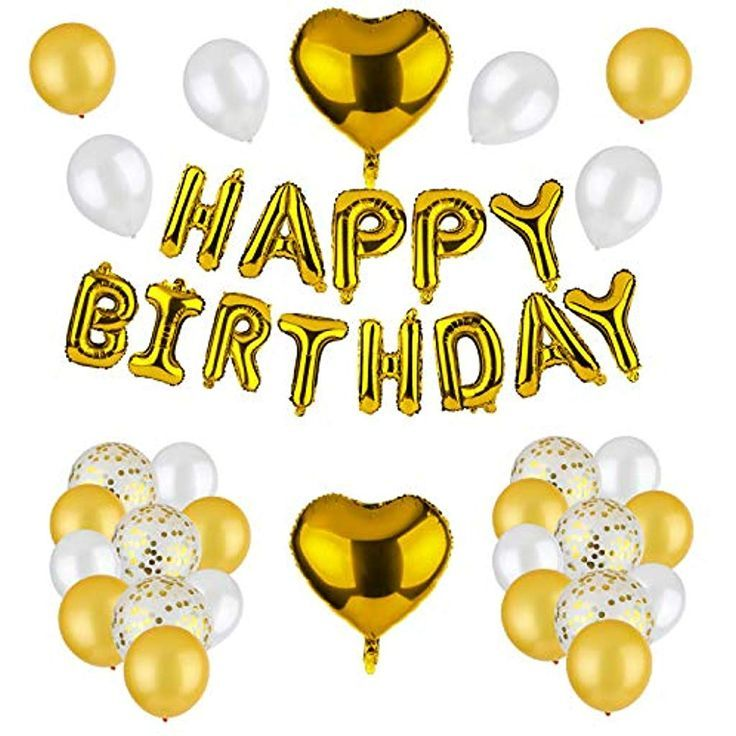 Dezehui Geburtstagsdeko Happy Birthday Girlande Ballons Part