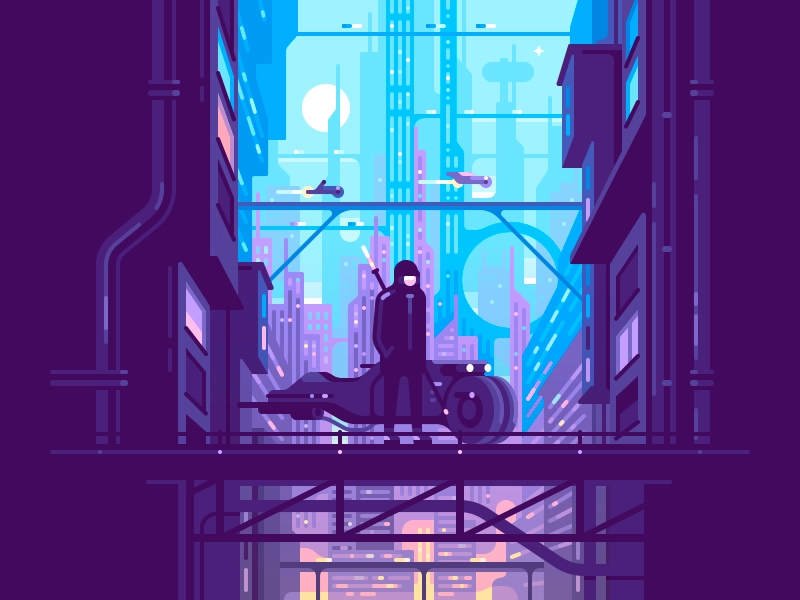 Dystopia Dystopia Futuristic City Illustration