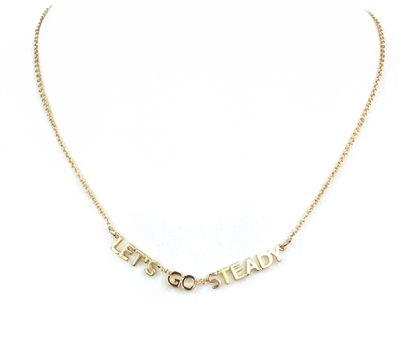 Kate Spade New York 'Let's Go Steady' Pendant Necklace, Gold List Price: $78.00 Our Price: $64.99 Savings: $13.01