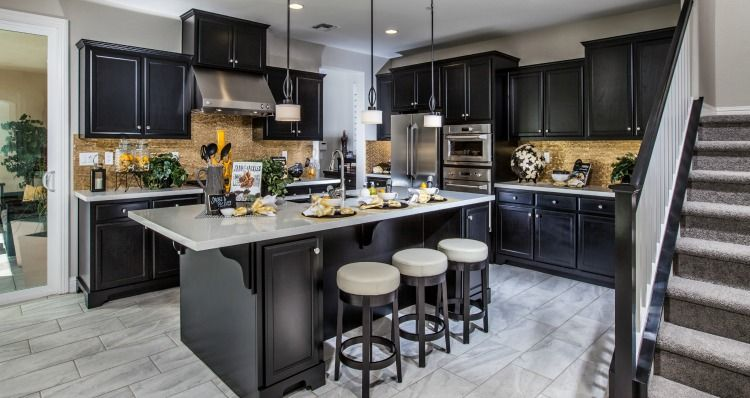 Mountainhouseca #newhomes #heritage Heritagewoodside Homes Awesome Model Kitchen Designs Design Ideas