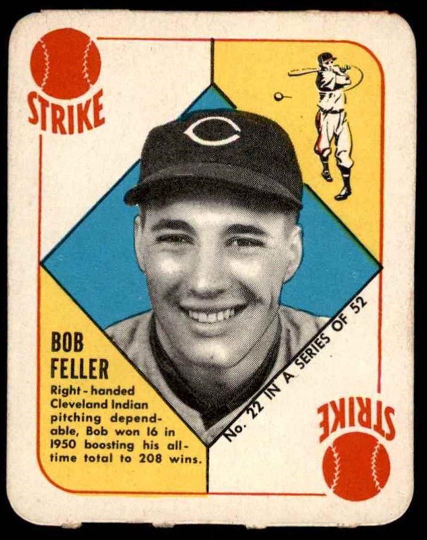 1951 Topps Red Back Bobby Feller Topps Baseball Cards