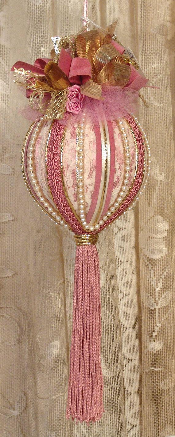 Rose christmas ornament - Handmade Victorian Christmas Ornament By Victoriankeepsakes