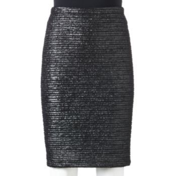 Apt. 9 Foil Jacquard Pencil Skirt - Women's