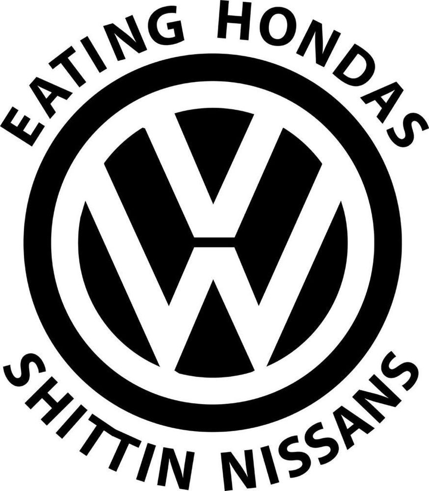 Eating Hondas Volkswagen Vinyl Decal Sticker Car VW Jetta Golf Gti - Custom vinyl decal stickers for cars