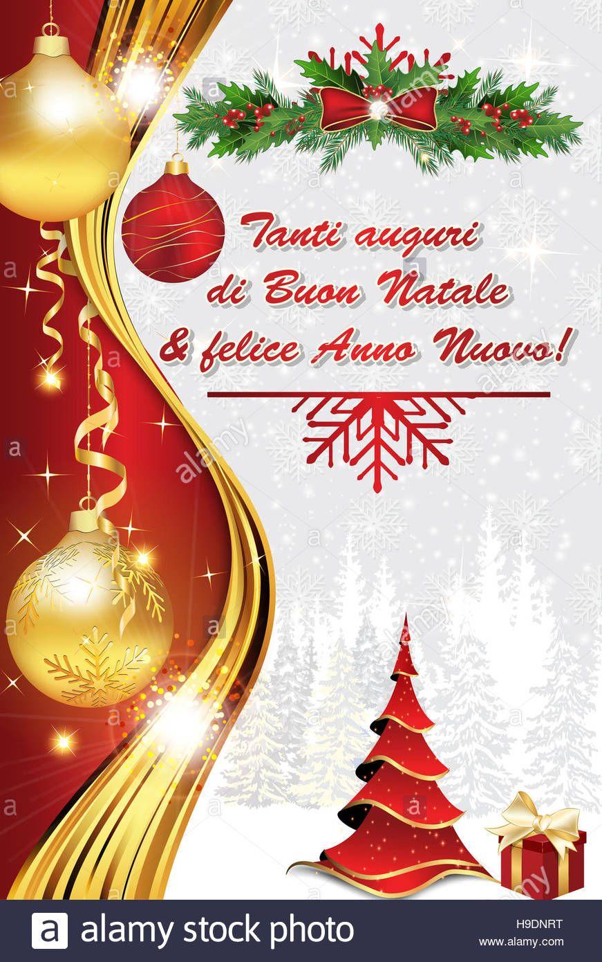 Tanti Auguri E Buon Natale.Esegui Il Download Di Questa Immagine Stock Tanti Auguri Di Buon Natale E Felice Anno Nuovo Biglietto D A Buon Natale Felice Anno Nuovo Biglietto Natalizio