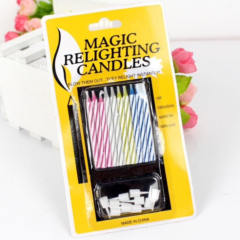 Creative Funny Relighting Magic Candle Trick Candle Birthday Cake Party Gag Joke