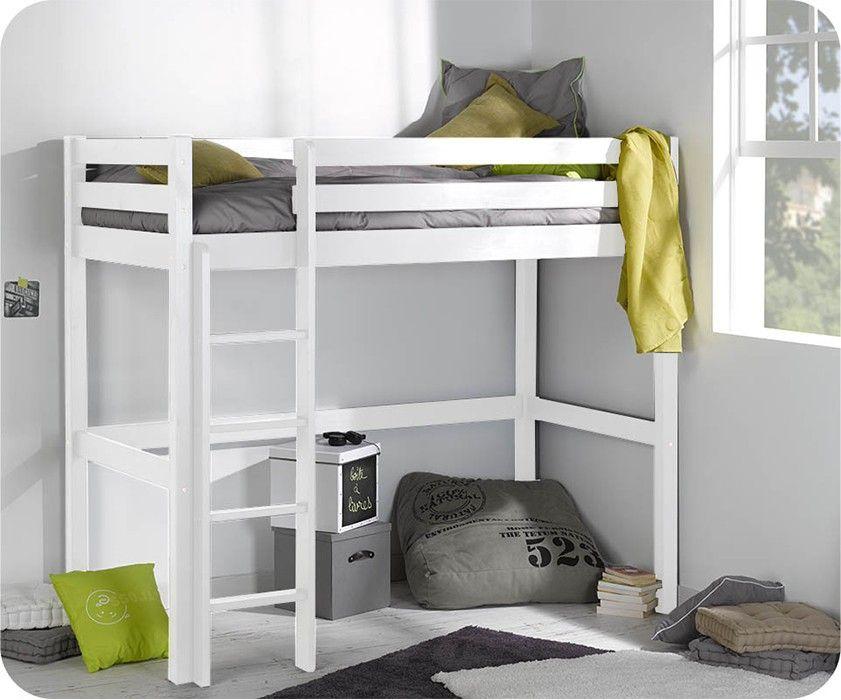 Hochbett Tanguy Weiss 90x190cm Hochbett Kinderbett Matratze Bett