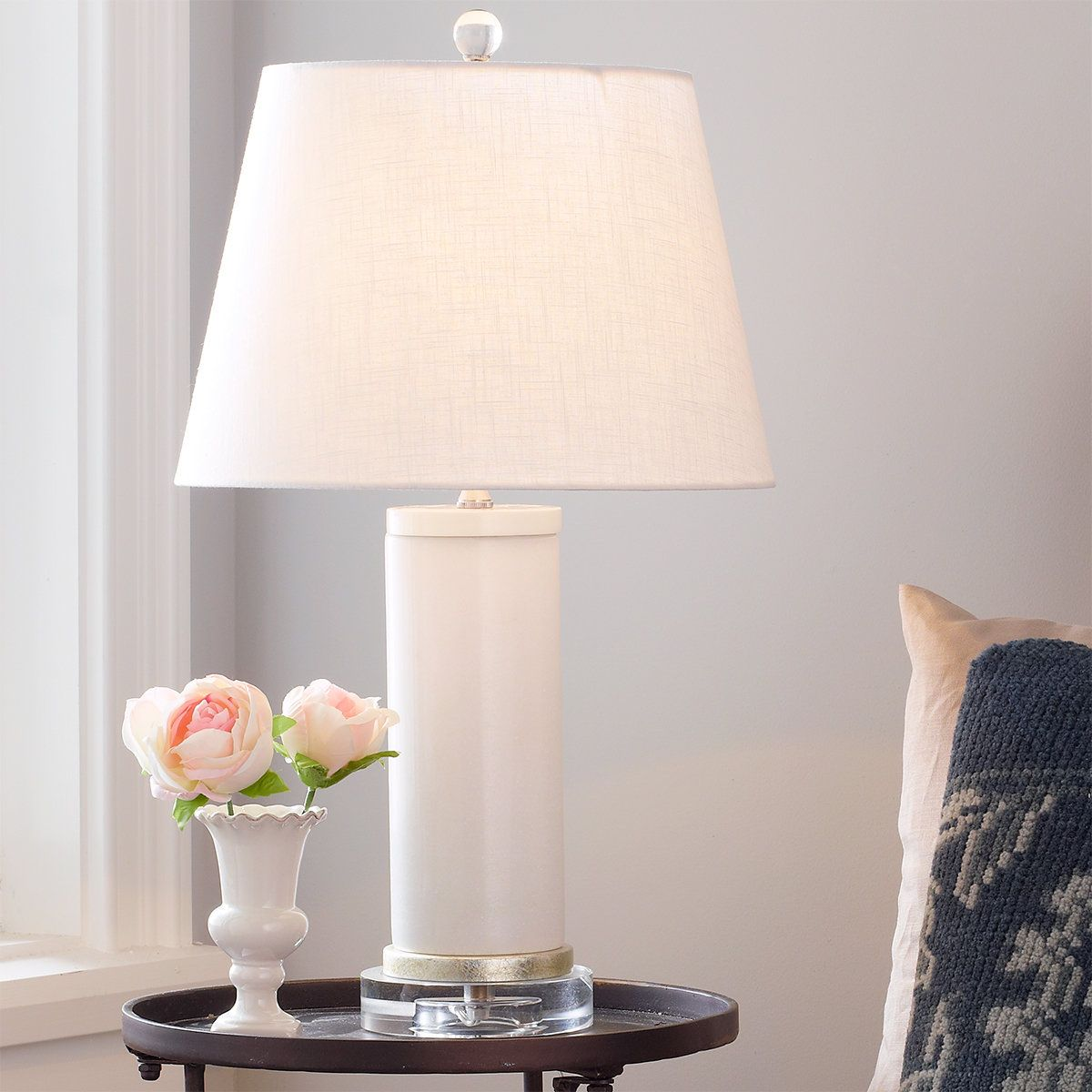 White Jade Cylinder Table Lamp Table Lamp Unique Table Lamps Table Lamp Design
