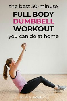 30 Minute Full Body Dumbbell Workout Video #dumbbellworkout