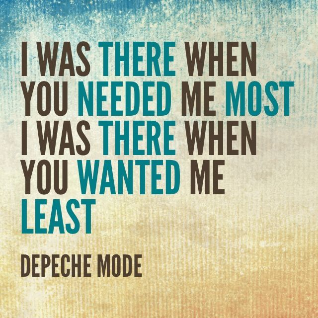 I Was Your Father Your Son And Your Holy Ghost And Priest Depeche Mode Music Quotes Lyric Quotes