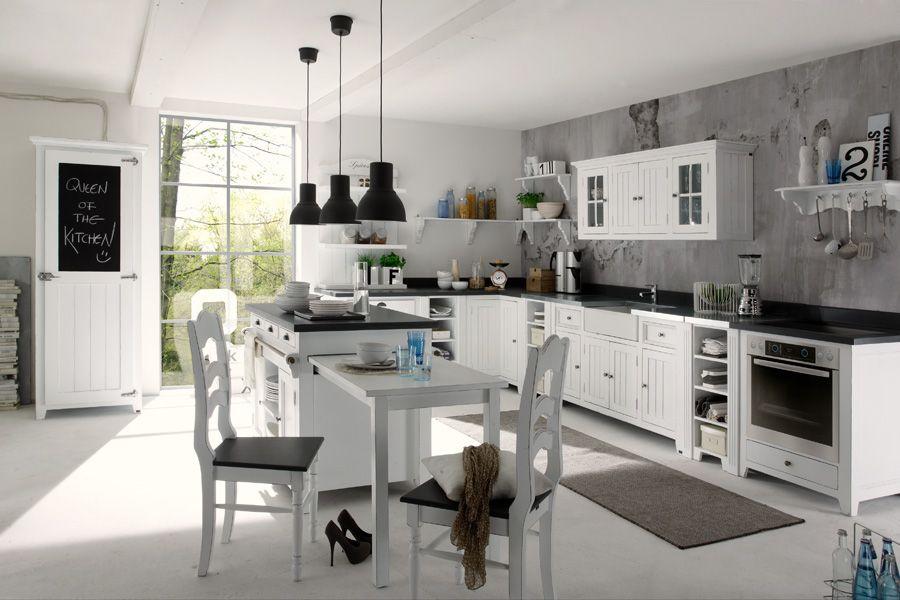 Odette kitchen by massivum Esszimmer Pinterest - küche landhaus weiß