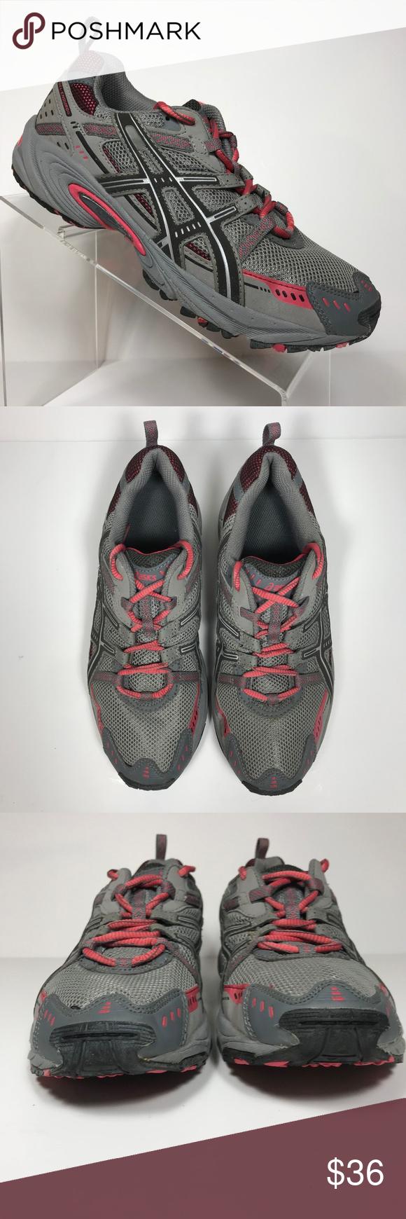 Asics Gel Enduro 6 Grey Pink running shoes Size 7M   Pink running ...