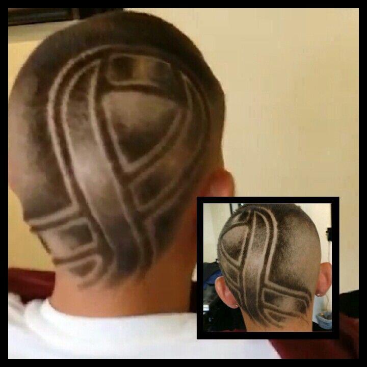 Shaved Breast Cancer Ribbon Bow Hair Design Haircut Jondome On Ig