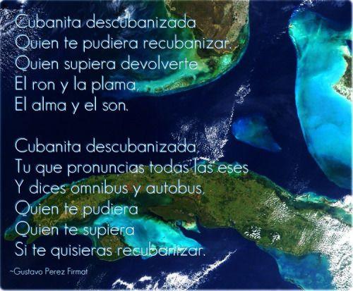 Cubanita descubanizada, poema, Gustavo Pérez Firmat,