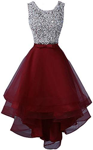 Buy Lemai Sheer Beaded Scoop Neck High Low Prom Evening Party Homecoming Dresses online - Perfectbestsellers