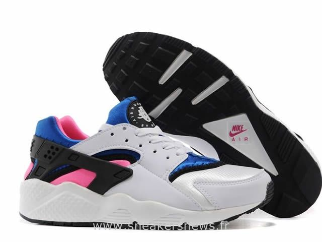 low priced 6c148 f9127 Nike Air Huarache Femme OG BlancRoyal Game-Dynamic Rose Nike Air Huarache  Pas Cher