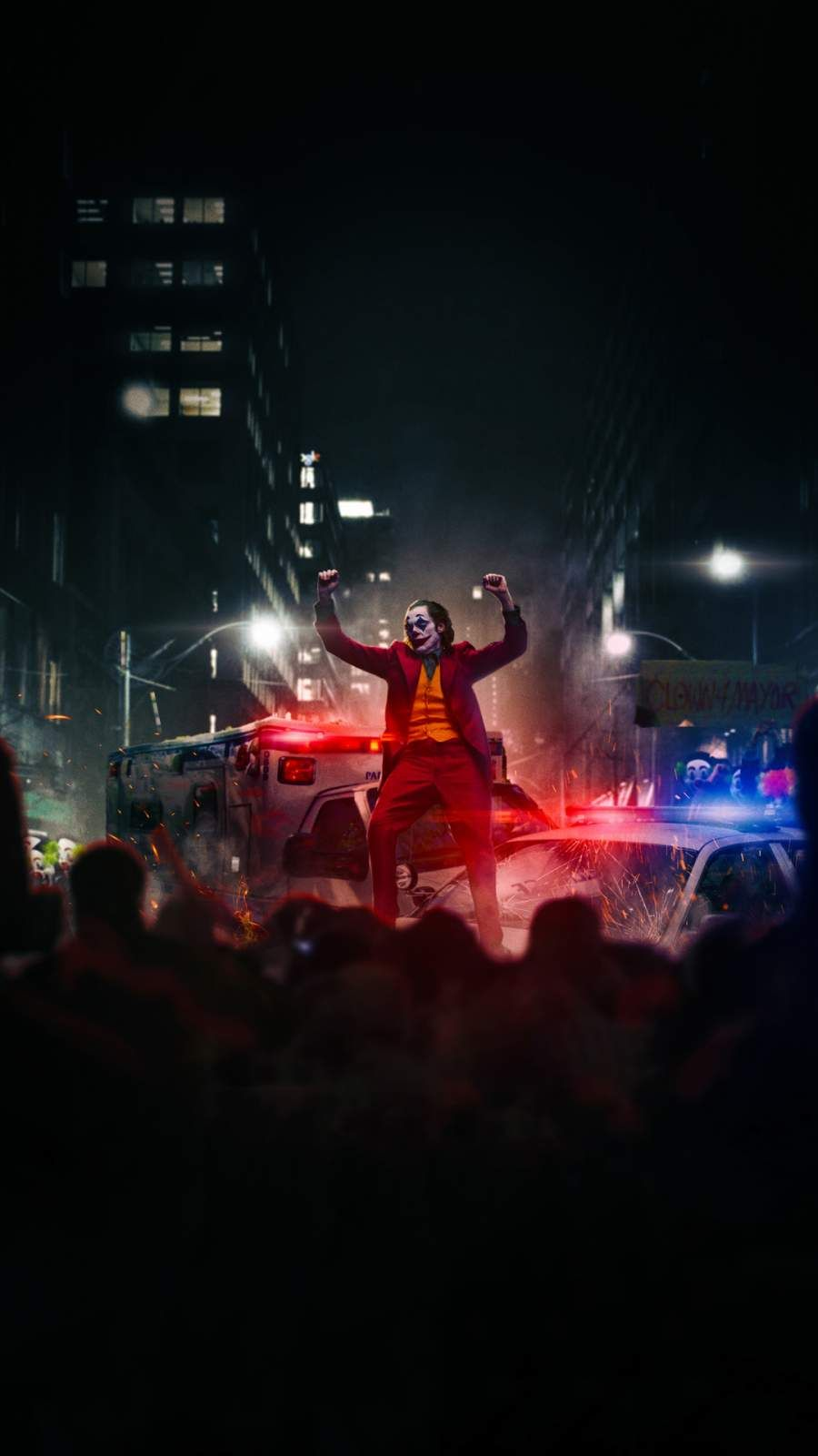 Joker Dancing On Police Car Iphone Wallpaper Joker Wallpapers Joker Iphone Wallpaper Joker Images