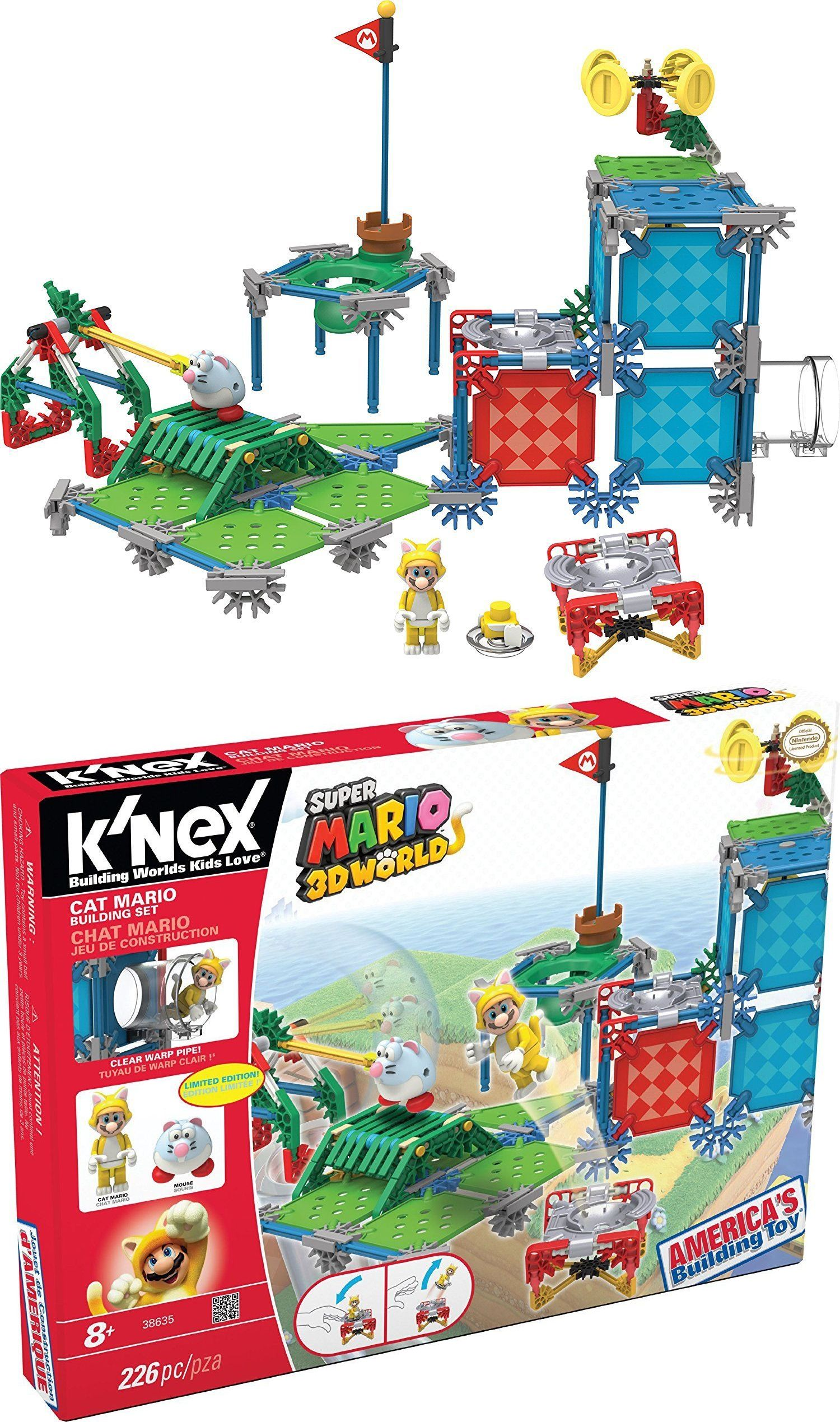 494ab08de65 KNEX Building Toys 21254: K Nex Super Mario Cat Mario Building Set 38635  Mario Chat New Free Shipping -> BUY IT NOW ONLY: $44.99 on eBay!