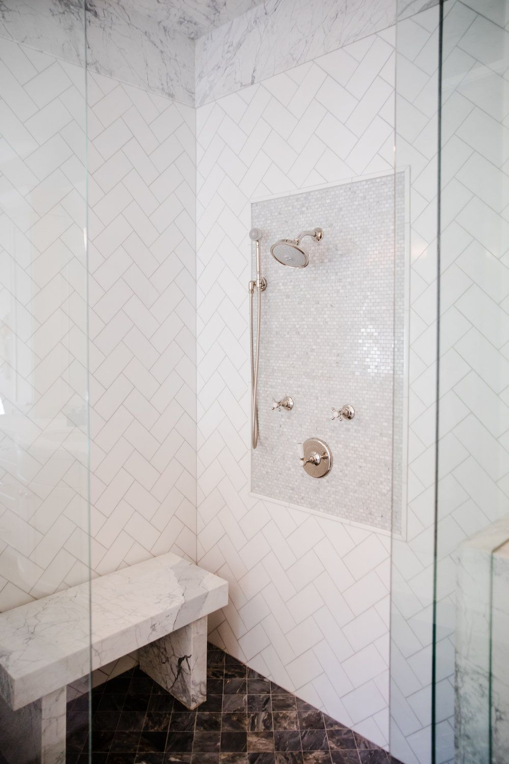 Bathed In Marble Bathtub Walls Shower Tile Vanity Backsplash