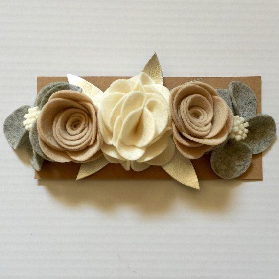 Felt Flower Crown Felt Flower Headband by BCheerfulBoutique