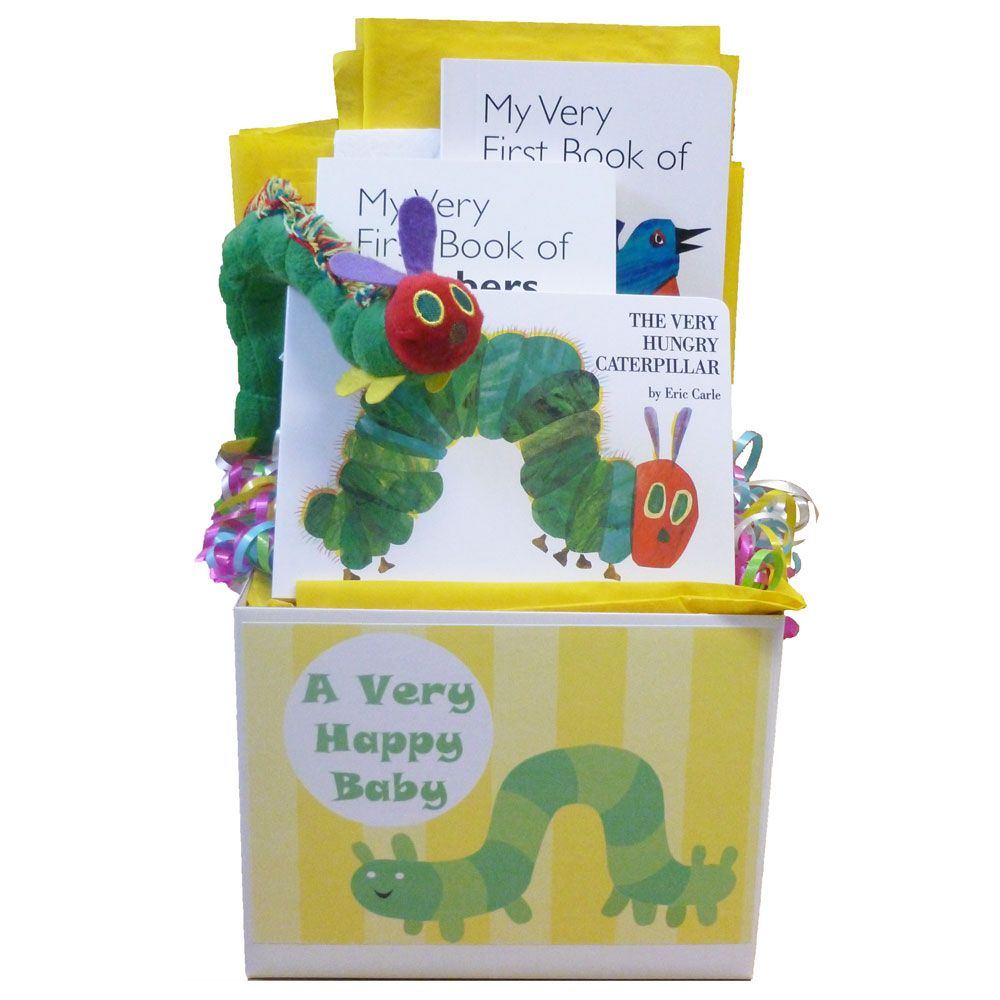 Baby Gift Baskets With Books : Very hungry caterpillar baby gift featuring eric