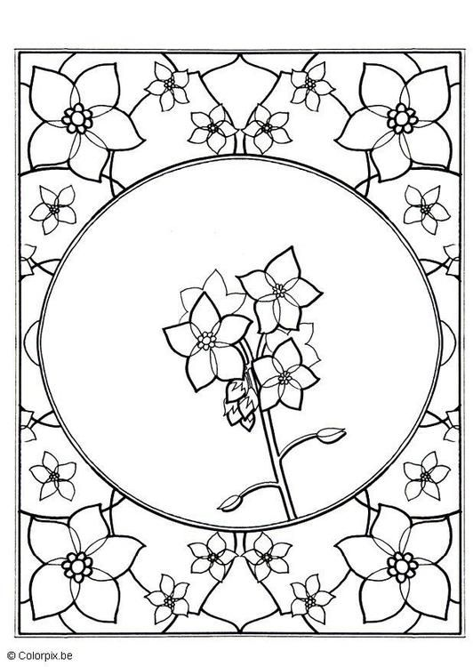 Coloring Page Forget Me Not Coloring Picture Forget Me Not Free