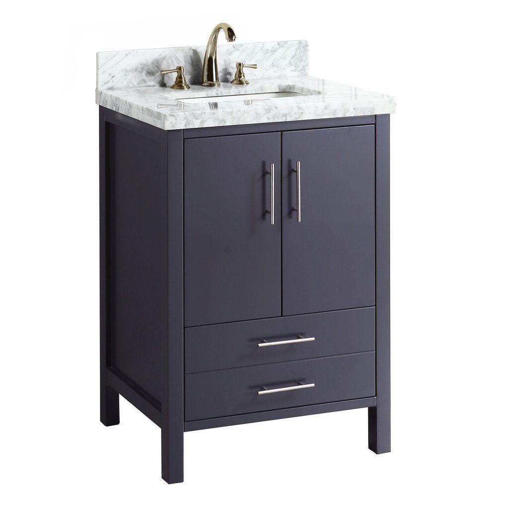California 24 Inch Vanity Carrara Charcoal Gray Favorite