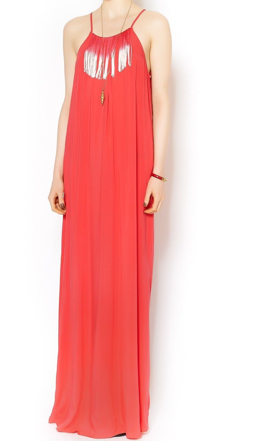 Nice great bcbg generation new red ombre fringed womenus size xs