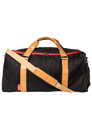 Flud Watches Bag Mayor Duffle In Black Denim Karmaloop