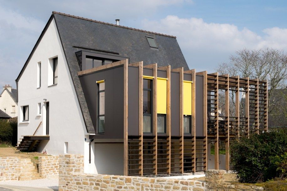 maison, extension, bois, bretagne, maéma architectes Elevations - faire un agrandissement de maison